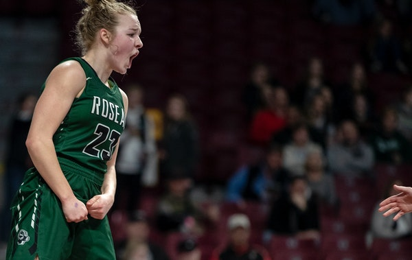 Katie Borowicz (23) of Roseau is joining the Gophers women's basketball team early, it was announced Saturday.