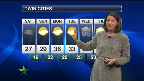 Afternoon forecast: 27, cloudy with a few peeks of sun