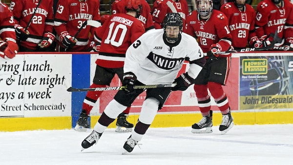 Former Wayzata standout Colin Schmidt had one goal and four assists as a freshman for Union in 2019-20.
