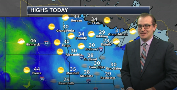Evening forecast: Cloudy, then patchy freezing fog