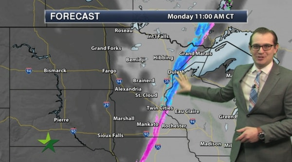 Morning forecast: Wintry mix early, then afternoon sun; high 36