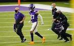 Vikings cornerback Cameron Dantzler was injured vs. the Chicago Bears in Week 15.