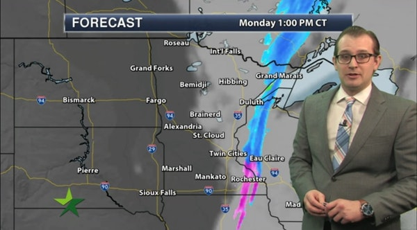 Afternoon forecast: Clouds clearing out, high 36