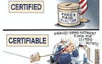 Sack cartoon: Certified vs. certifiable