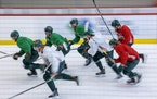 The Minnesota Wild took to the ice for the first day of training camp at Tria Rink, Monday, January 4, 2021 in St. Paul, MN.