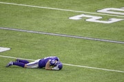 Vikings receiver Adam Thielen in the fourth quarter of a loss to Tennessee in September.