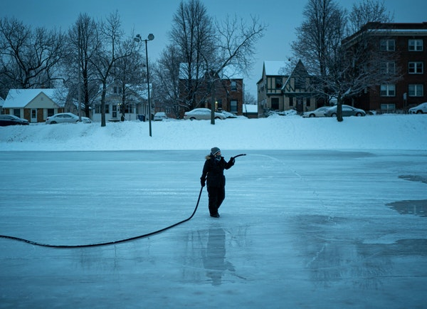 The art (and science) of making outdoor ice rinks in Minnesota
