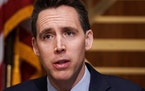 Sen. Josh Hawley, R-Mo., asked questions in December during a Senate Homeland Security and Governmental Affairs Committee hearing to discuss election