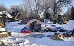 What could be the last formal homeless encampment in the city, located in Minnehaha Park,  was cleared of trash and uninhabited tents by the Park Boar