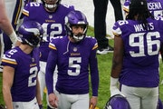 Vikings kicker Dan Bailey during a Dec. 6 game against Jacksonville.