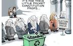 Sack cartoon: Election deniers caucus