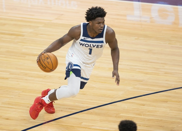 Timberwolves rookie Anthony Edwards had only five points and four assists against Denver on Sunday, but coach Ryan Saunders told him it was his best N