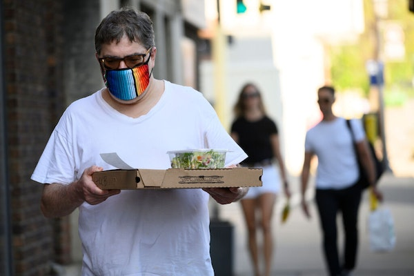 "Mark Berman walked back to his North Loop home with a pizza and salad from Black Sheep in May. ""I would not go to any place that offers in house din"