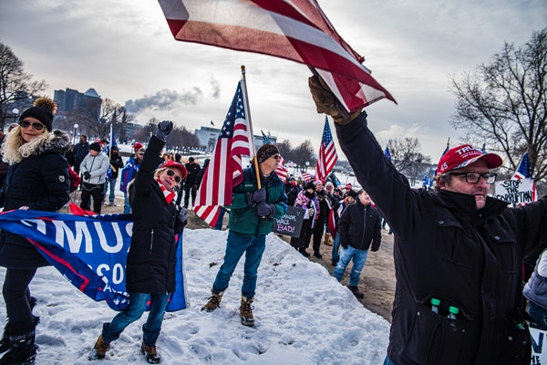 """""""We are not going to put up with it much longer,"""" says Gerald Williams of Virginia, Minnesota of his opposition to Governor Walz's handling of t"""