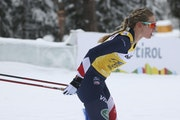 Alessandro Trovati • Associated Press Jessie Diggins finished third Wednesday in the 10-km fifth stage of the Tour de Ski in Dobbiaco, Italy, keepin