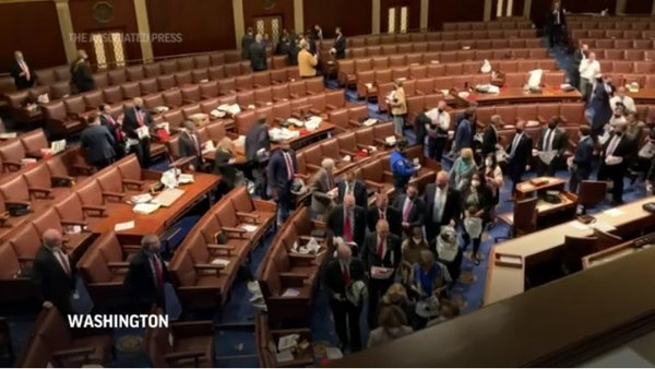 Lawmakers evacuated as protesters storm Capitol