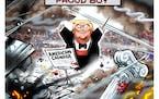 Sack cartoon: The proud boy