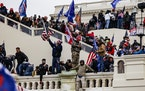Pro-Trump supporters storm the U.S. Capitol following a rally with President Donald Trump on Wednesday in Washington, D.C.