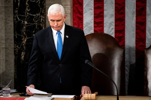 Pence condemns Capitol mob: 'Violence never wins'