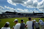 Fans watched the Toronto Blue Jays take on the Minnesota Twins from center field at Hammond Stadium on Feb. 23, 2020.