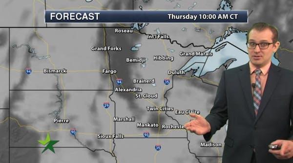 Morning forecast: Freezing fog early, high 28