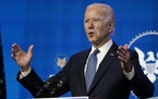 President-elect Joe Biden speaks during an event at The Queen theater in Wilmington, Del., Thursday, Jan. 7, 2021, to announce key nominees for the Ju
