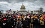 Supporters of President Donald Trump protesters gathered in front of the U.S. Capitol Building on Wednesday, Jan. 6, 2021. They formed a mob that stor