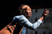 """Sonja Parks in """"Seedfolks"""" at Children's Theatre Company."""