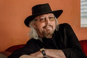 """At 74, Barry Gibb says, """"I don't mind being my age."""""""