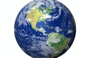 High resolution 3D render of Planet Earth.