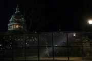 Security fences were erected around the Capitol complex in Washington on Jan. 7.
