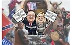Sack cartoon: Minnesota Sedition Caucus