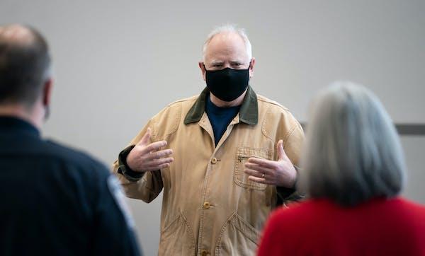 Minnesota Gov. Tim Walz, shown on Friday.