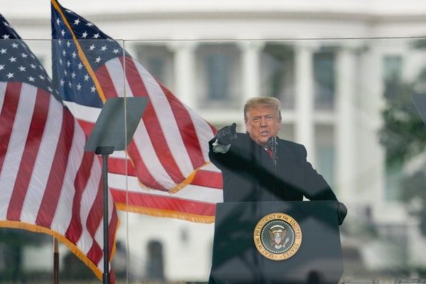 President Donald Trump encouraged loyalists at a rally Wednesday at the White House to march on the Capitol where Congress was certifying the Electora