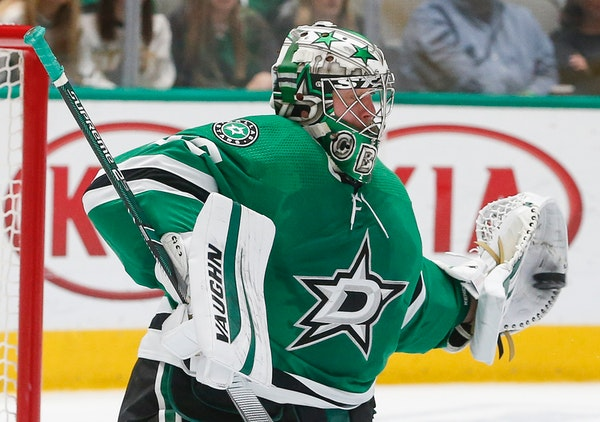 Former Wild goalie Anton Khudobin remained with the Stars after becoming a free agent, receiving a three-year deal worth $10 million.