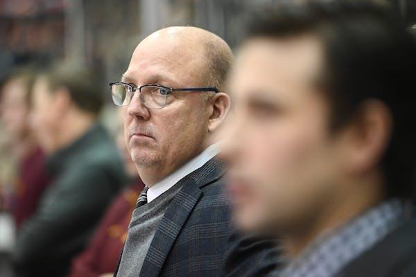 Gophers coach Bob Motzko in 2018.