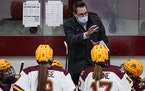 Gophers coach Brad Frost earlier this season.