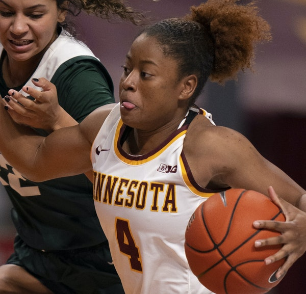 """Guard Jasmine Powell says the Gophers """"need to stay locked in"""" throughout games."""