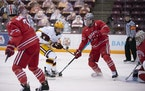 Forward Jonny Sorenson (shown against Ohio State in November) scored to break a 2-2 tie and help the Gophers beat Wisconsin 5-3 on Sunday.