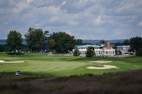 Golfers played atTrumpNationalGolf Club inBedminster, N.J., on Oct. 2, 2020. The PGA of America voted Sunday to take the PGA Championship even