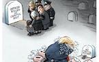 Sack cartoon: Mourning