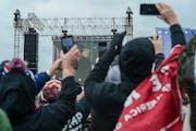 President DonaldTrumpaddresses supporters near the Washington Monument in Washington onWednesday, Jan. 6, 2021, at arallyprotesting the pres