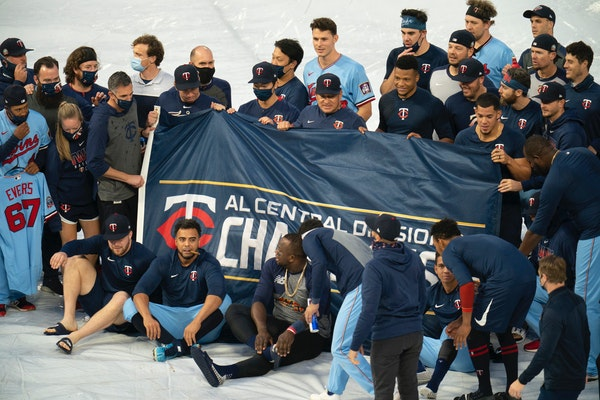 The Twins celebrated winning the American League Central after finishing 36-24 in 2020. The White Sox and Cleveland both finished 35-25, but offseason