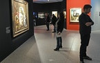 "People visited the exhibition ""Gurlitt : Status Report"" at the Bundeskunsthalle museum in Bonn, Germany."