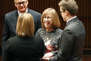 St. Paul Council Member Jane Prince, center, shown in 2016, was the resolution's lead sponsor on the council.