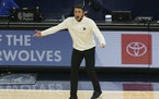 """Timberwolves coach Ryan Saunders has been reminded by his wife to not let his facemask slip down during games. """"I'll try to be a little more caref"""