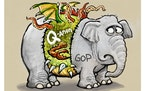 Sack cartoon: A new kind of beast
