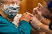 Oak Meadows Senior Living's Arlene Studerman got a shot, but about half of workers refused over side-effect fears.