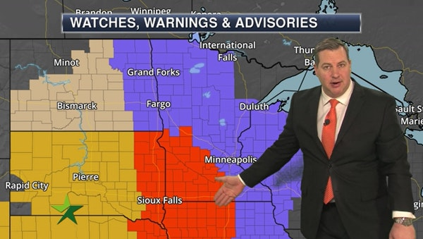 "Morning forecast: 1-3"" more of snow for the Twin Cities"