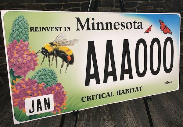 Minnesota's newest critical habitat license plate: Endangered pollinators